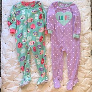 2T footie zip pajamas. Perfect condition!